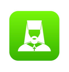 Orthodox priest icon digital green vector