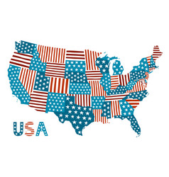 patchwork style map of the united states vector image