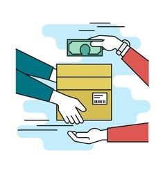 Payment cash for express delivery vector
