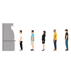 people are standing in line at atm vector image