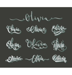 Personal name Olivia vector image