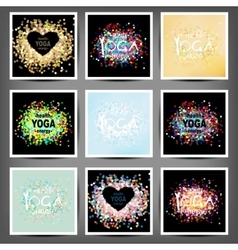 Poster for yoga class with a sea view vector image