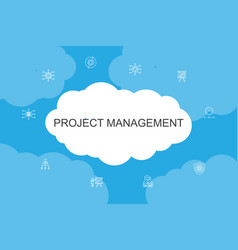 Project management infographic cloud design vector