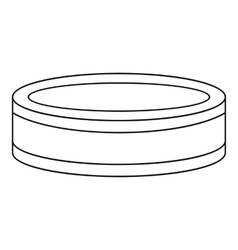 Puck icon outline style vector