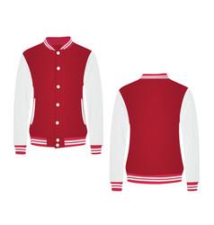 Red college jacket vector