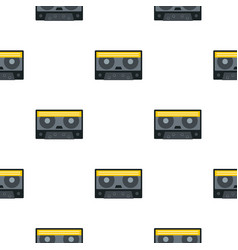 Retro cassette tape pattern seamless vector