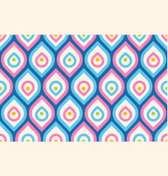 Retro pattern in 60s style vector