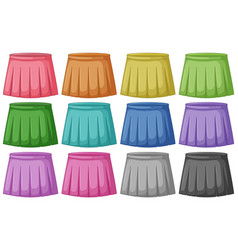 Set different colored skirts vector