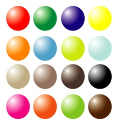 Set of colored ball vector