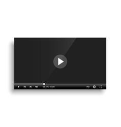 shiny black video player bar template design vector image