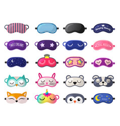 Sleeping mask funny clothes for sleepover rest vector