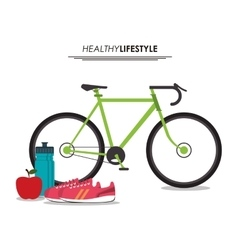 Smartphone healthy lifestyle graphic vector