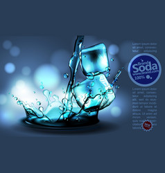 Soda advertising design high detailed realistic vector