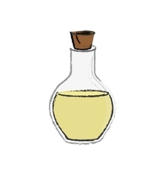 spa oil bottle vector image