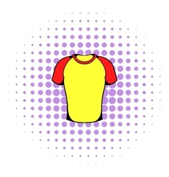 Sport shirt icon comics style vector