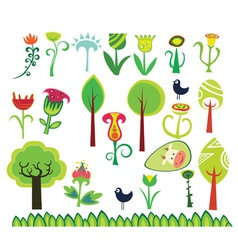 Spring design floral elements vector