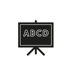 teaching board icon - school blackboard vector image