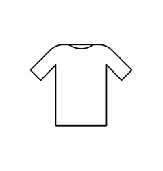Tshirt outline icon vector