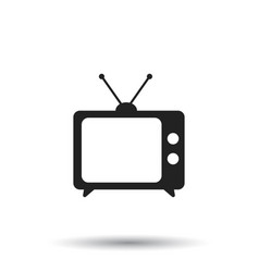 Tv icon in flat style isolated on white vector