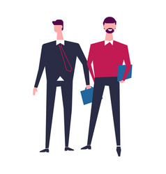 Two men in office casual clothes characters vector