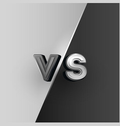 versus logo black and white vs letters vector image