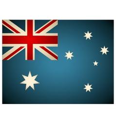 Vintage Australia Flag vector image