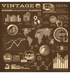 Vintage Business Infographic Elements vector