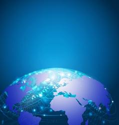 World technology mesh network vector image