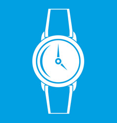 Wristwatch icon white vector