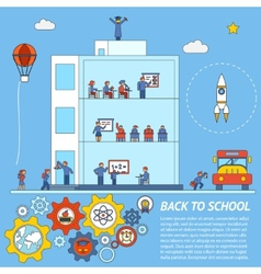 Back to School Infographic Template vector image vector image