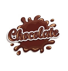Chocolate drops and blot with lettering vector image vector image