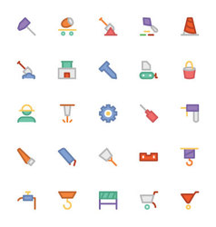 Construction Icons 3 vector image vector image