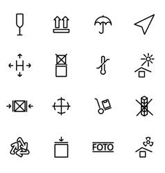 Line marking of cargo icon set vector