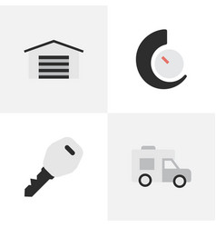 set of simple shipping icons vector image vector image