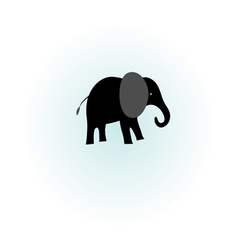 silhouette of elephant vector image vector image