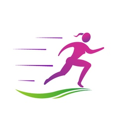 Woman running fast Abstract concept of fast vector image vector image