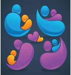 family and love vector image vector image