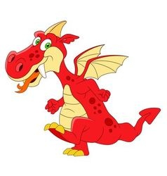 fantastic dragon vector image