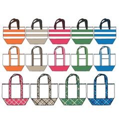 fashion handbag design vector image vector image