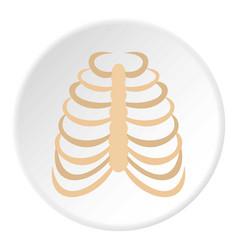 rib cage icon circle vector image