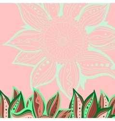 Colorful flowers pattern background Floral frame vector image