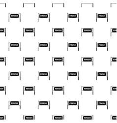 Finish line gates pattern vector