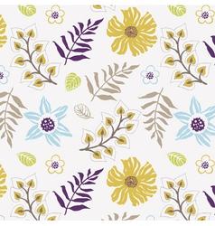 floral wallpaper print vector image vector image