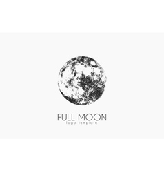 Moon logo design Creative moon logo Night logo vector image vector image