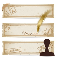 Set of old vintage paper vector image vector image