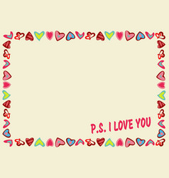 yellow frame with text vector image