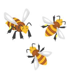 cartoon style bees vector image