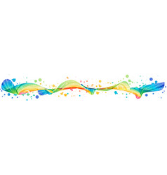 colorful splash horizontal design vector image vector image