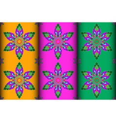 Colorful Thai style Kra Jung pattern vector image