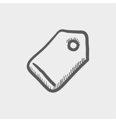 Empty tag sketch icon vector image